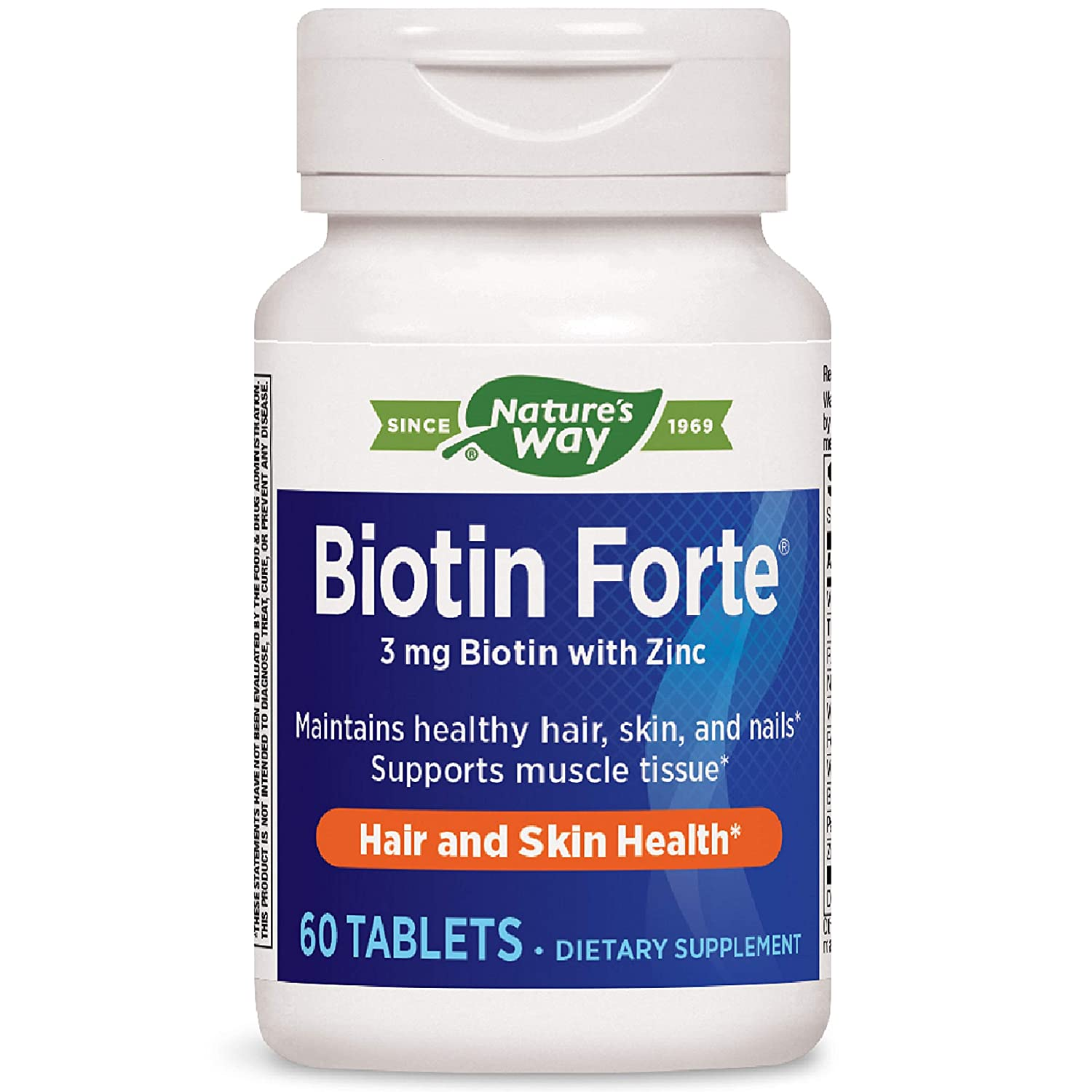 Natures Way Biotin Forte 3mg with Zinc (Packaging May Vary)