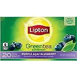 Lipton Green Tea Bags, Purple Acai Blueberry 20 Count (Pack of 6)