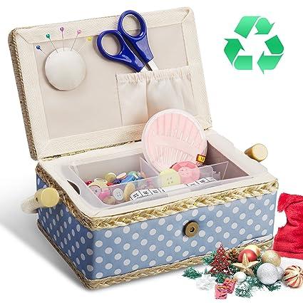 Caja de Costura, Kealive Kit de Costura De Coser Accesorios Portátil Casa De Coser Conjunto