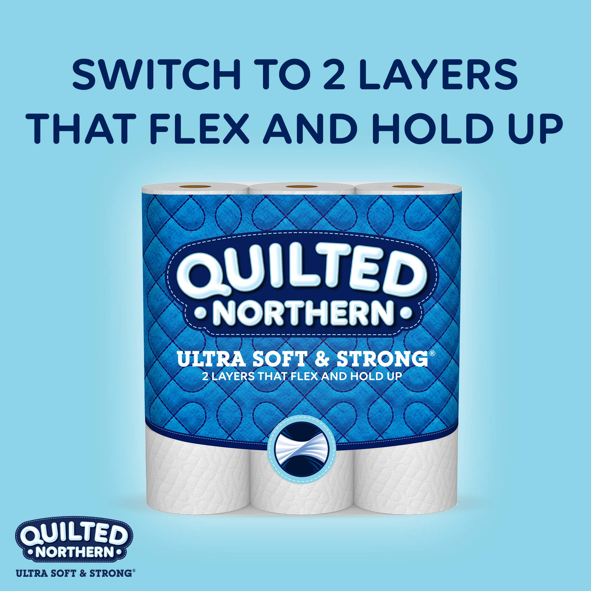 Quilted Northern Ultra Soft & Strong Toilet Paper, 48 Double Rolls, 164 2-Ply Sheets Per Roll by Quilted Northern (Image #10)