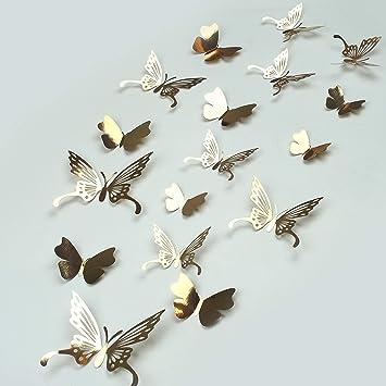 45 Piezas Mariposas 3D Mariposas Decorativas Pegatinas de Pared ...
