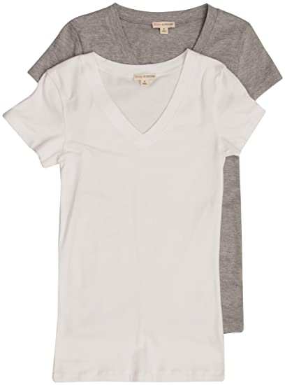 7e538faf2 Image Unavailable. Image not available for. Color: 2 Pack Zenana Women's Plus  Size Basic V-Neck ...
