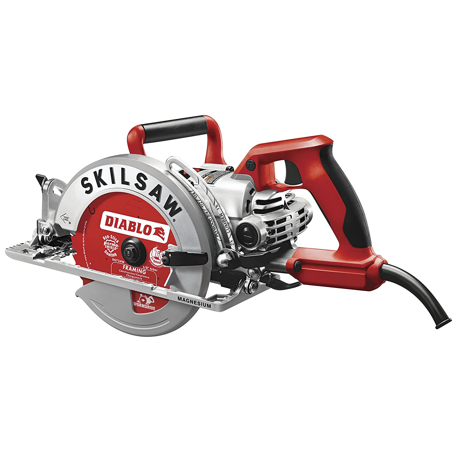 Skilsaw Magnesium Lightweight Worm Drive Circular Saw – 7 1 4in. 15 Amp, Model Number SPT77WML-22