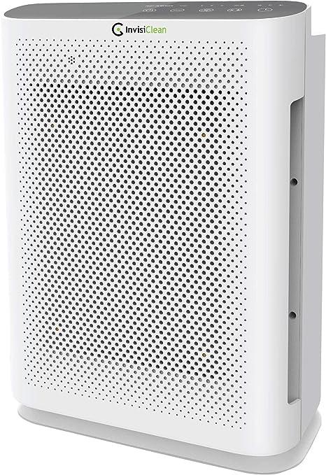 InvisiClean Aura II purificador de aire – 4 en 1 True HEPA, ionizador, carbón + desinfectante UV-