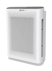 InvisiClean Aura II Air Purifier - 4-in-1 True HEPA, Ionizer, Carbon + UV-C Sanitizer - Air Purifier for Allergies & Pets, Home, Large Rooms, Smokers, Dust, Mold, Allergens, Odor Elimination, Germs