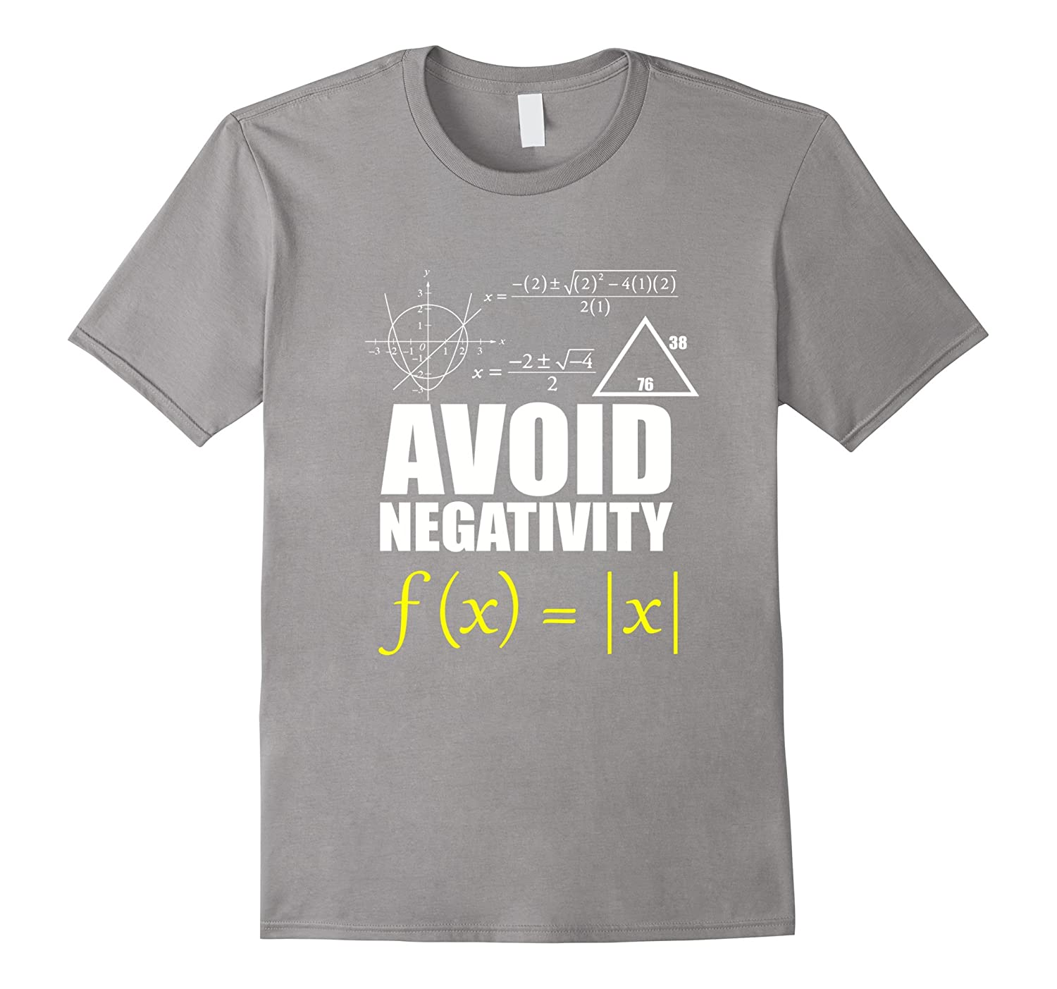 Funny avoid negativity t shirt math nerd geek student for Architecture student t shirts