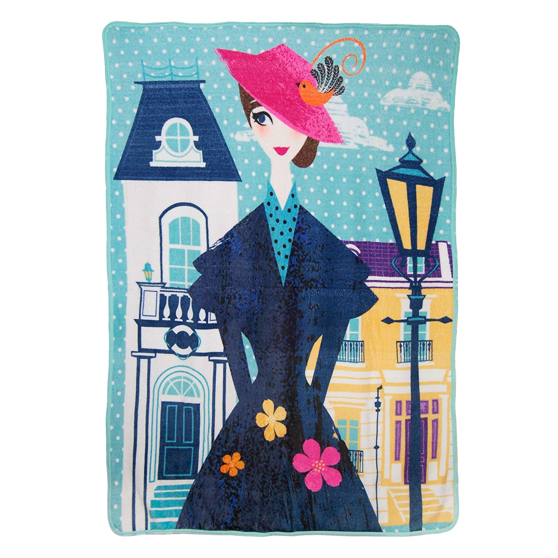 "Disney's Mary Poppins Returns, ""Chim Chiminy"" Micro Raschel Throw Blanket, 46"" x 60"" , Multi Color"