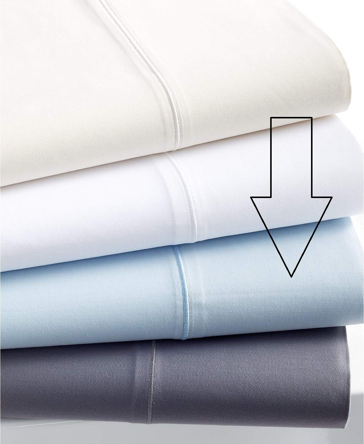 Charter Club Allure Collection 600 Thread Count Cotton 4 Piece California King Extra Deep Sheet Set Cloud Blue