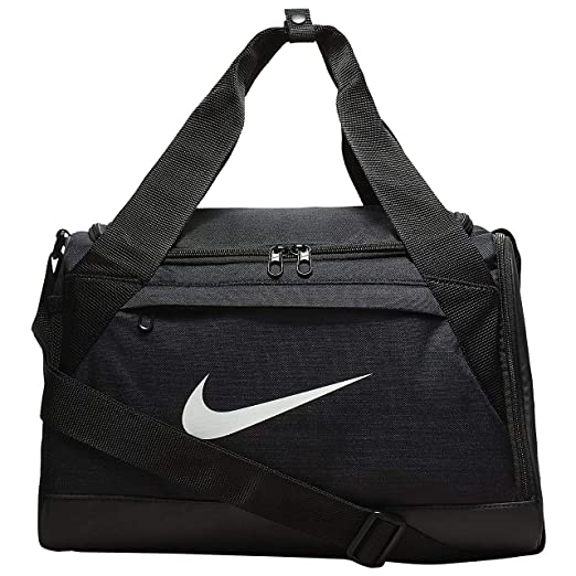 Nike Brasilia Training Duffel Bag (Extra-Small) (Black White) 74a0a5832f