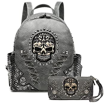 Western Style Sugar Skull Backpack Wallet Shoes & Bags