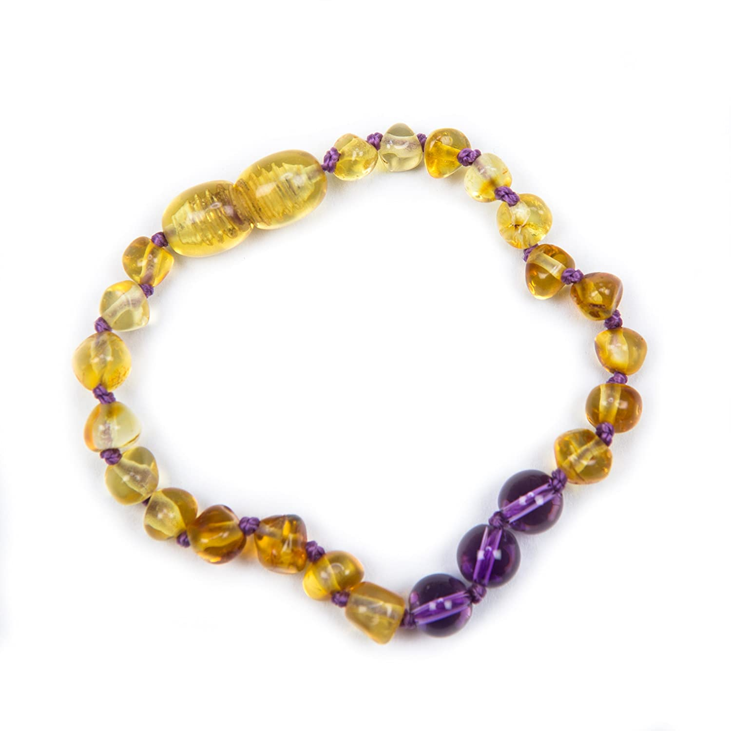 100% Genuine Baltic Amber & Semi Precious Anklet Bracelet Lemon Honey Amethyst sizes 12cm 13cm 14cm 15cm 16cm 18cm. Free UK Delivery. Money Back Guarantee J's Amber Cognac