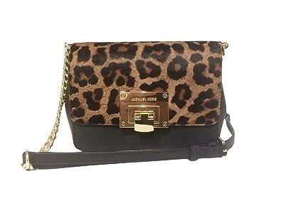 382d33b404c6 Michael Kors Tina Small Clutch   Crossbody Bag in Cheetah Haircalf ...