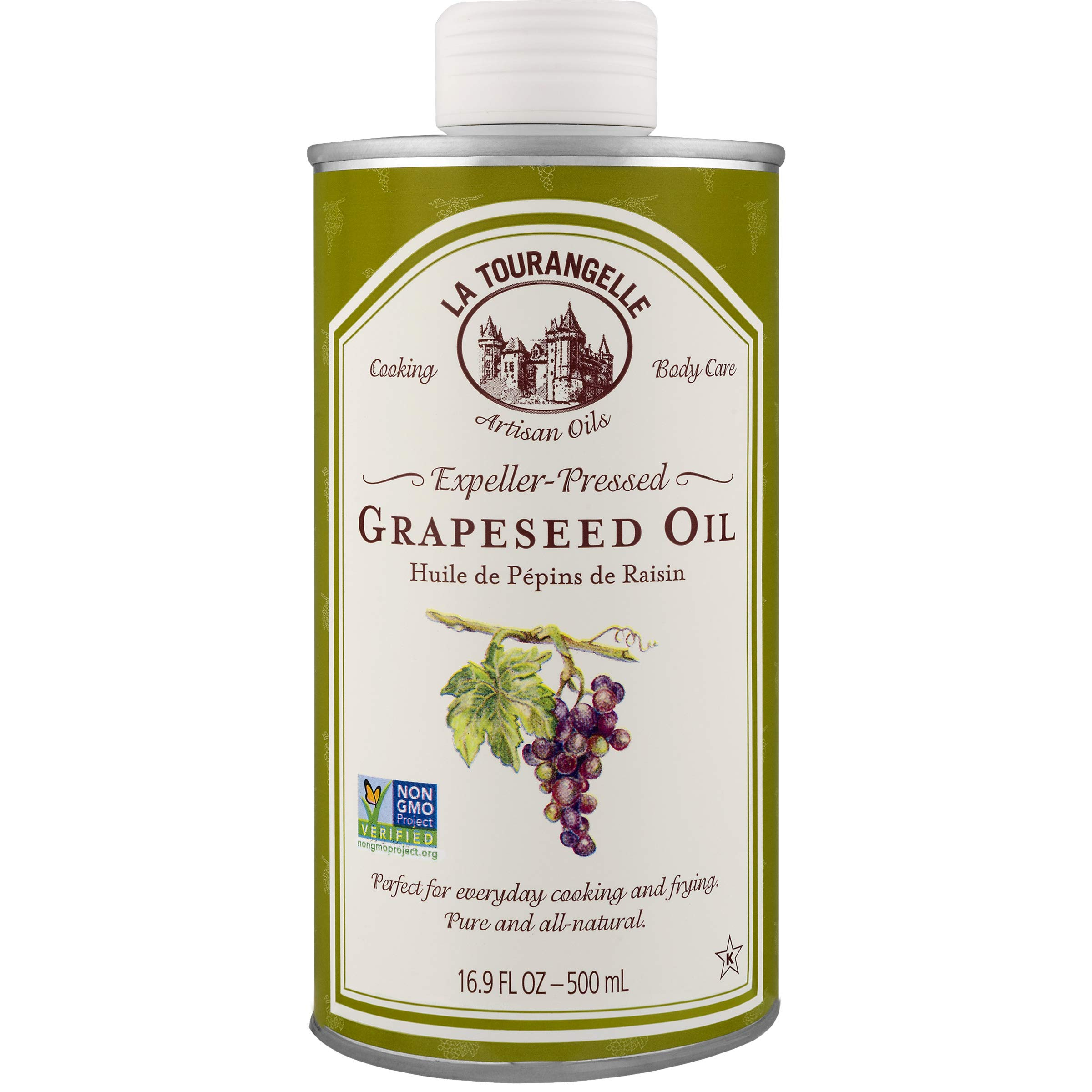 La Tourangelle Grapeseed Oil 16.9 Fl Oz, All-Natural, Artisanal, Great for Cooking, Sauteing, Marinating, and Dressing by La Tourangelle