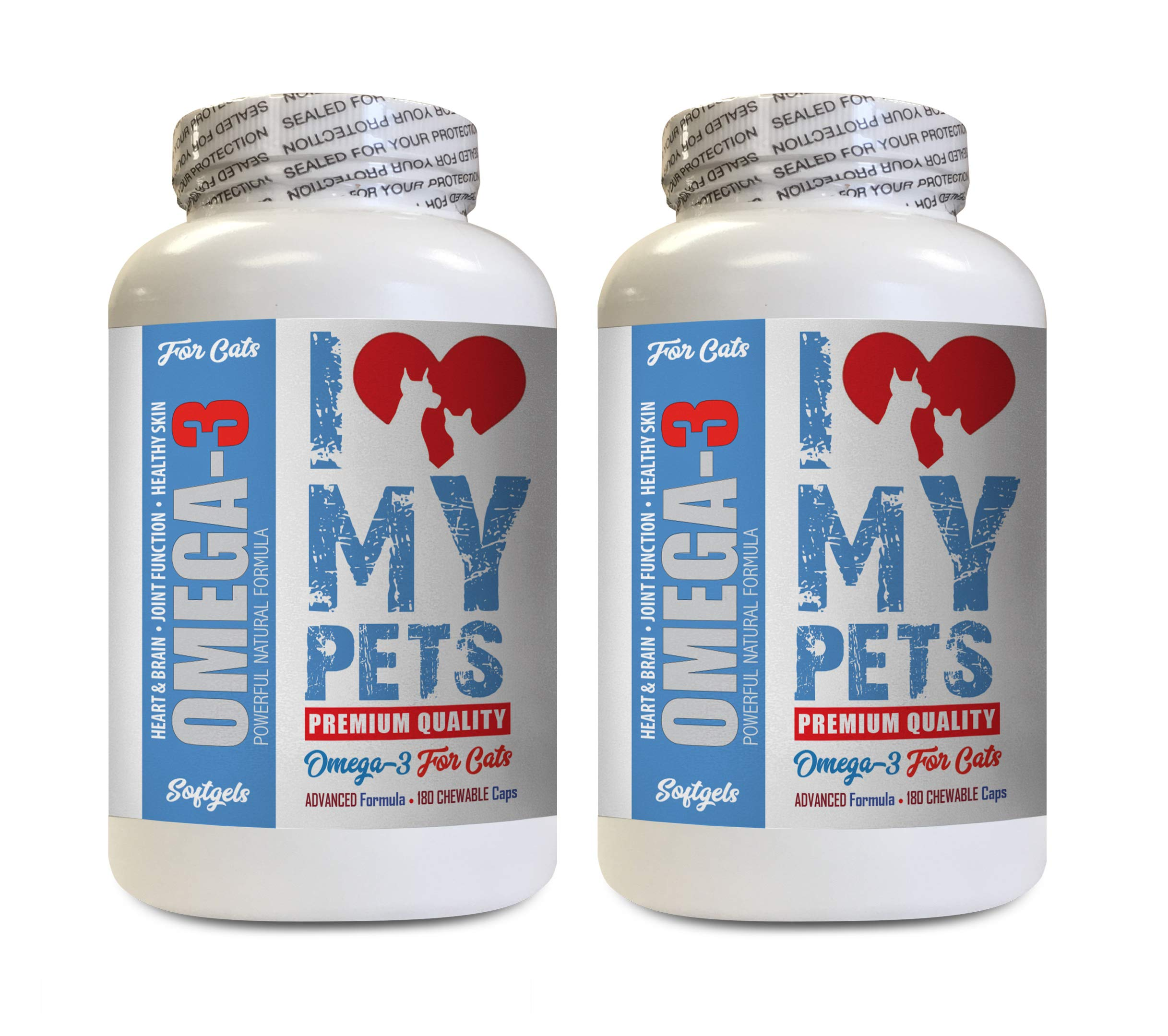 I LOVE MY PETS LLC cat Omega 3 Fatty acids - Omega 3 Fatty ACIDS for Cats - Best Health Option - Premium - cat Joint Supplement Chews - 360 Softgels (2 Bottles) by I LOVE MY PETS LLC