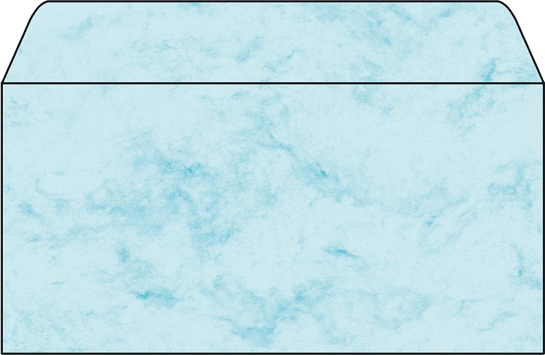 Sigel Sigel Sigel DU170 Sobre, Mármol azul, DL (110x220 mm), 90 g, 50 unds. 2b6991