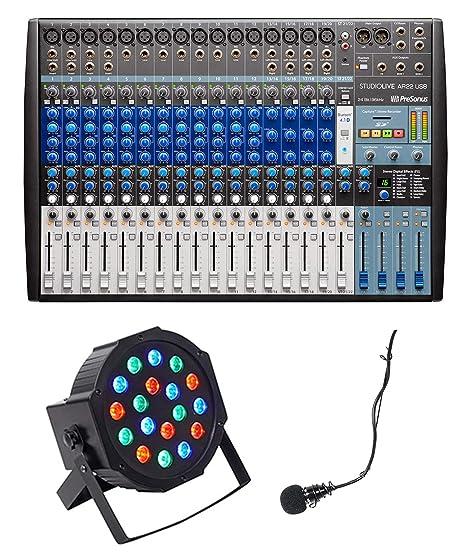 Presonus 22-Ch - Mezclador de mesa de sonido y mezclador de ...