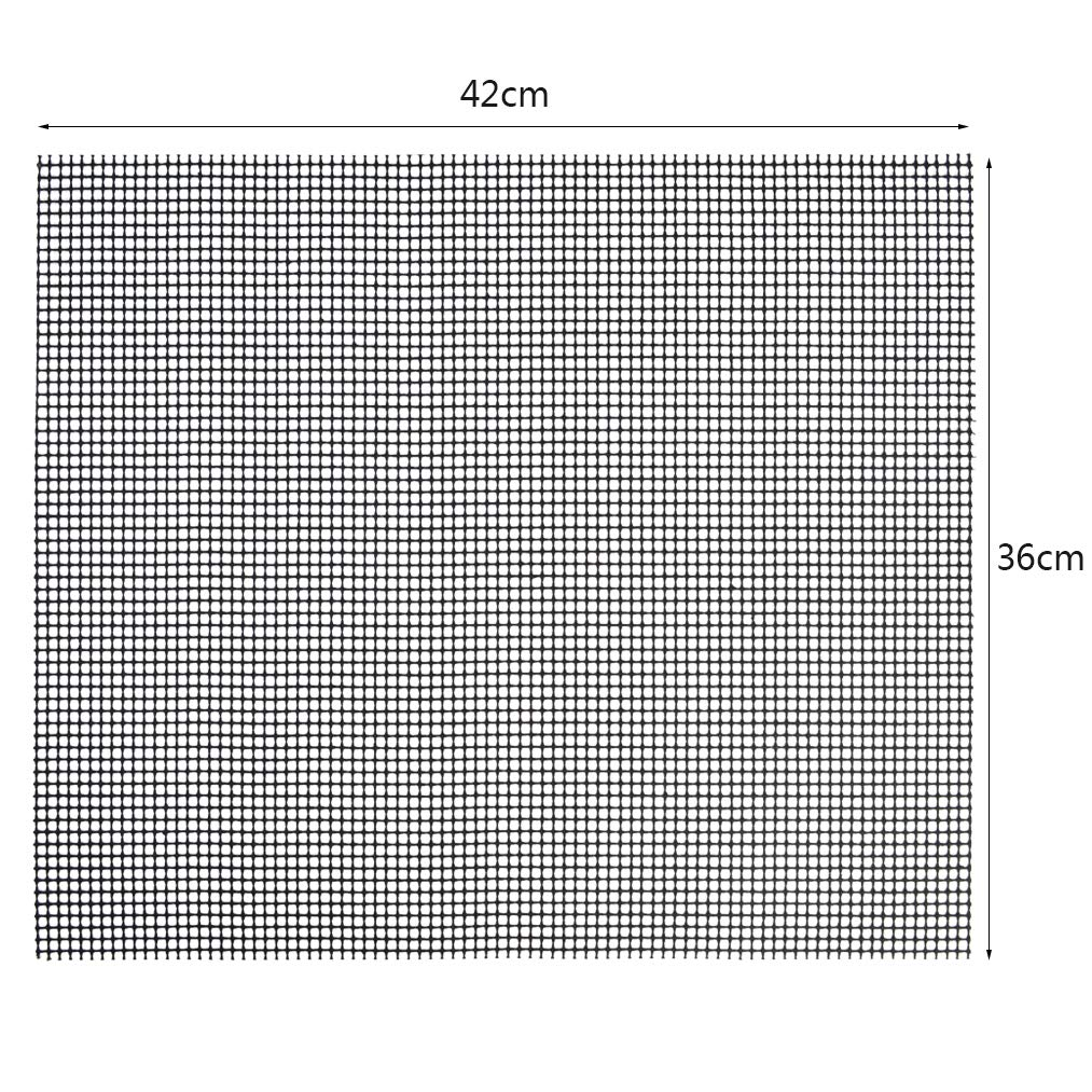 baotongle 2 St/ück Grillmatte,Backmatten Gebacken Antihaftend,Hitzebest/ändiger Antihaft Grill und Backmatte ideal zum Br/ötchenaufbacken,42 36 cm