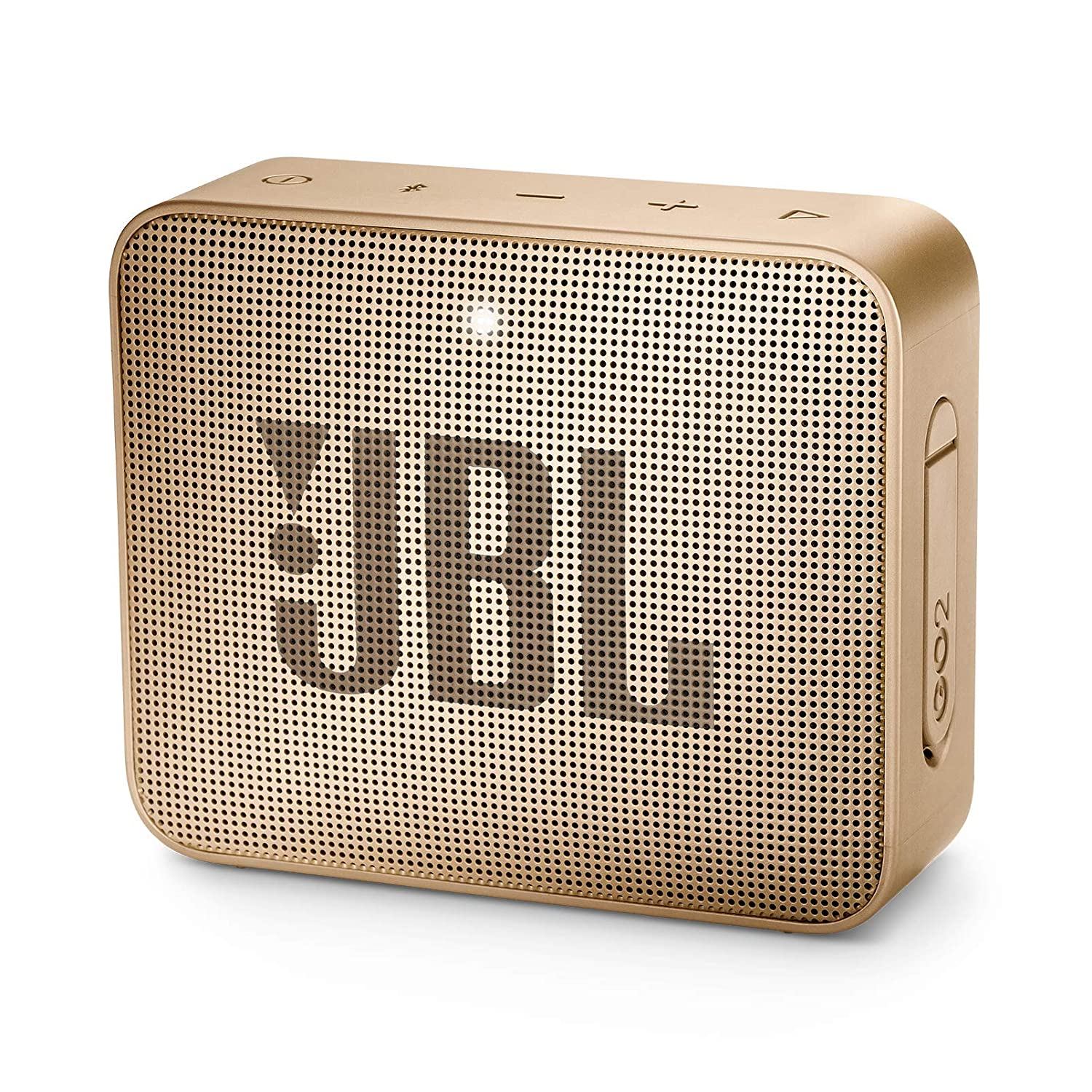 JBL JBLGO2CPN GO 2 Portable Bluetooth Waterproof Speaker (Champagne), 4.3 x 4.5 x 1.5