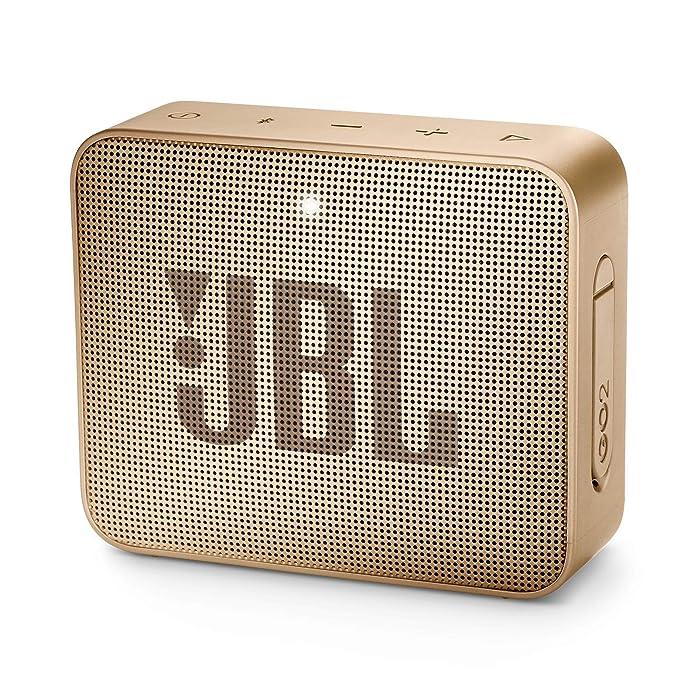 JBL JBLGO2CPN GO 2 Portable Bluetooth Waterproof Speaker (Champagne), 4.3 x 4.5 x 1.5