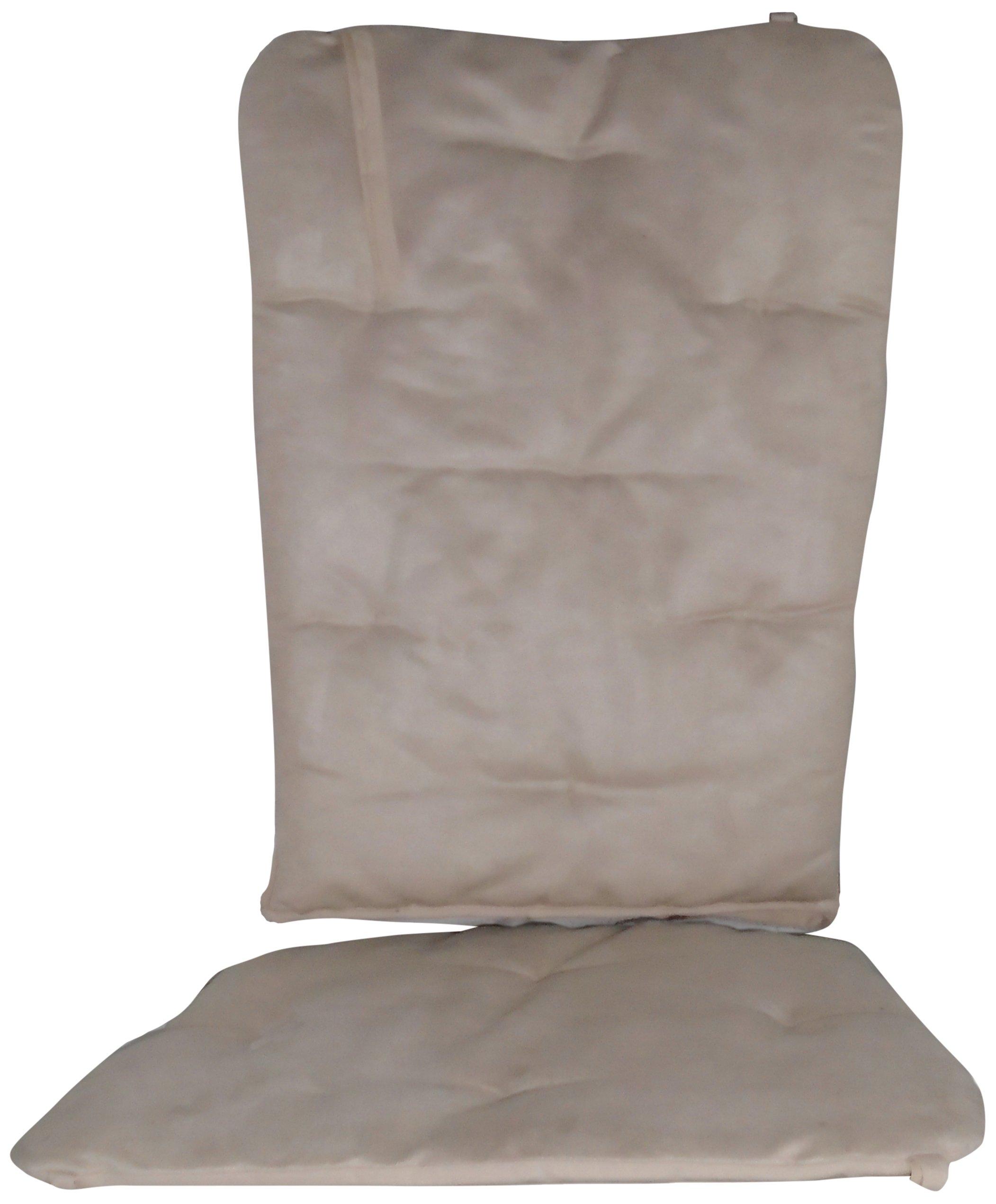 Baby Doll Bedding Suede Rocking Chair Cushion, Beige
