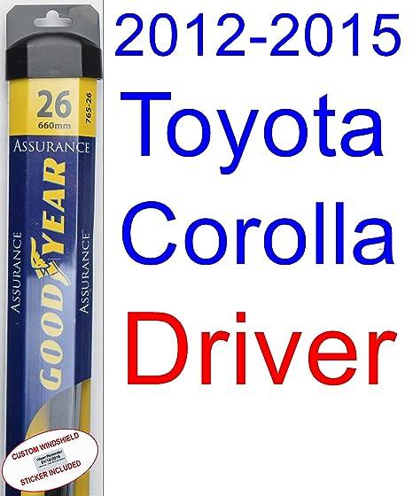 Juego de escobillas de repuesto para limpiaparabrisas Toyota Corolla L (modelos de 2012 a 2015