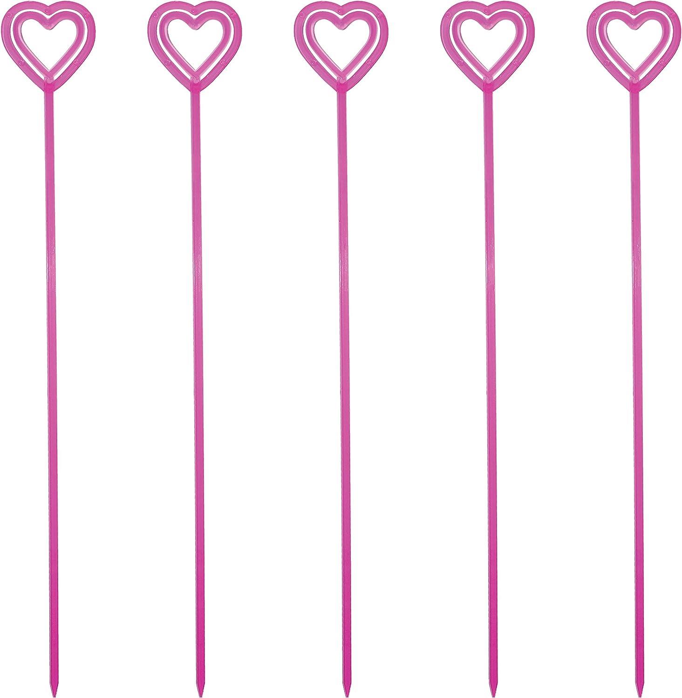 "80pcs 13/"" Plastic Heart Head Floral Picks Card Holder for Flower Arrangement"