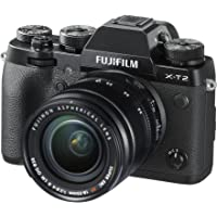 Fujifilm X Series X-T2 Mirrorless Digital Camera with 18-55mm F2.8-4.0R LM OIS Lens (Black)