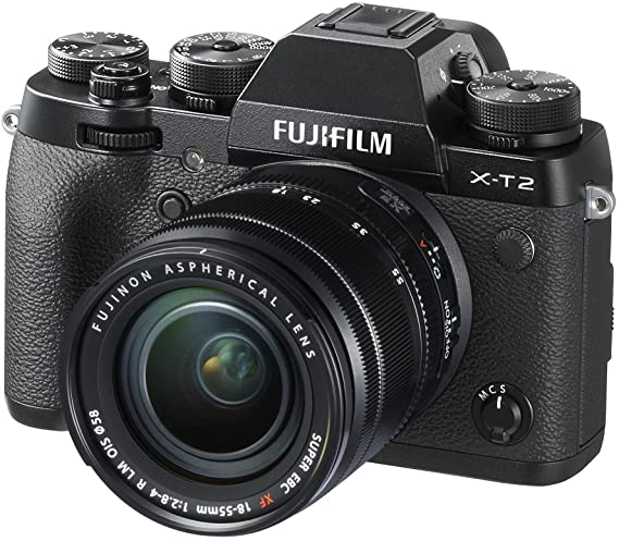 Fujifilm X-T2 Mirrorless Digital Camera with 18-55mm F2.8-4.0R LM OIS Lens Digital SLRs at amazon