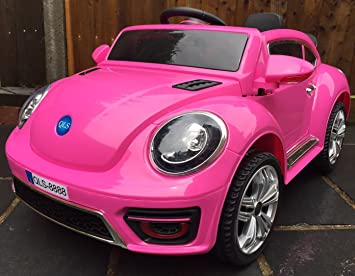 kids convertible bug electric battery 12v ride on car pink