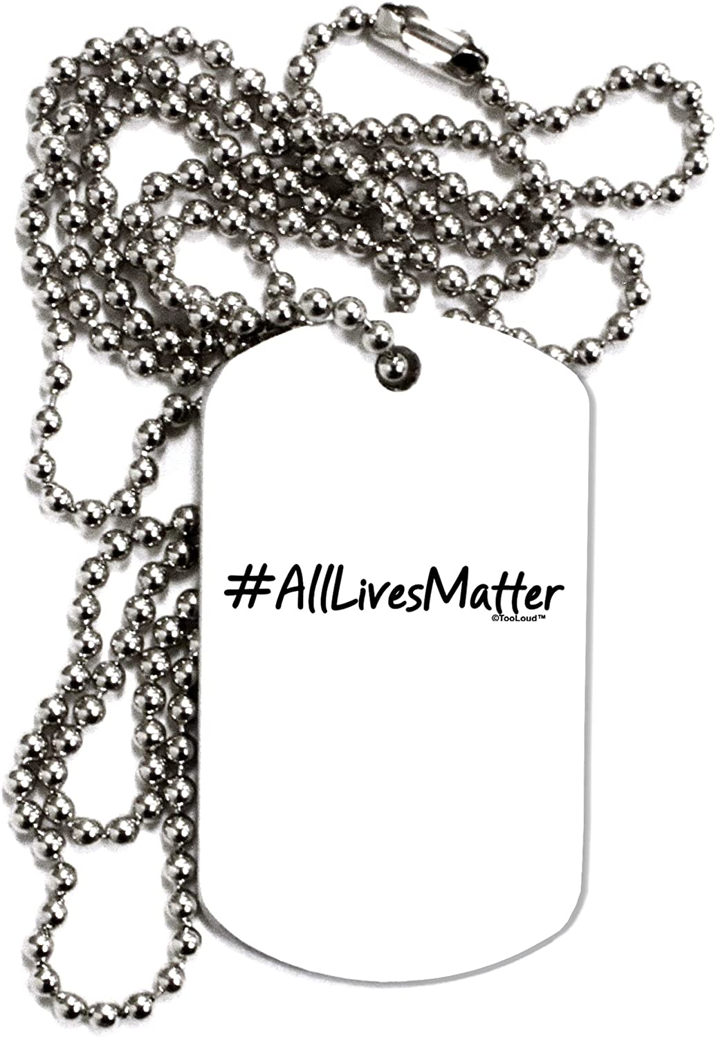 TOOLOUD Hashtag AllLivesMatter Adult Dog Tag Chain Necklace