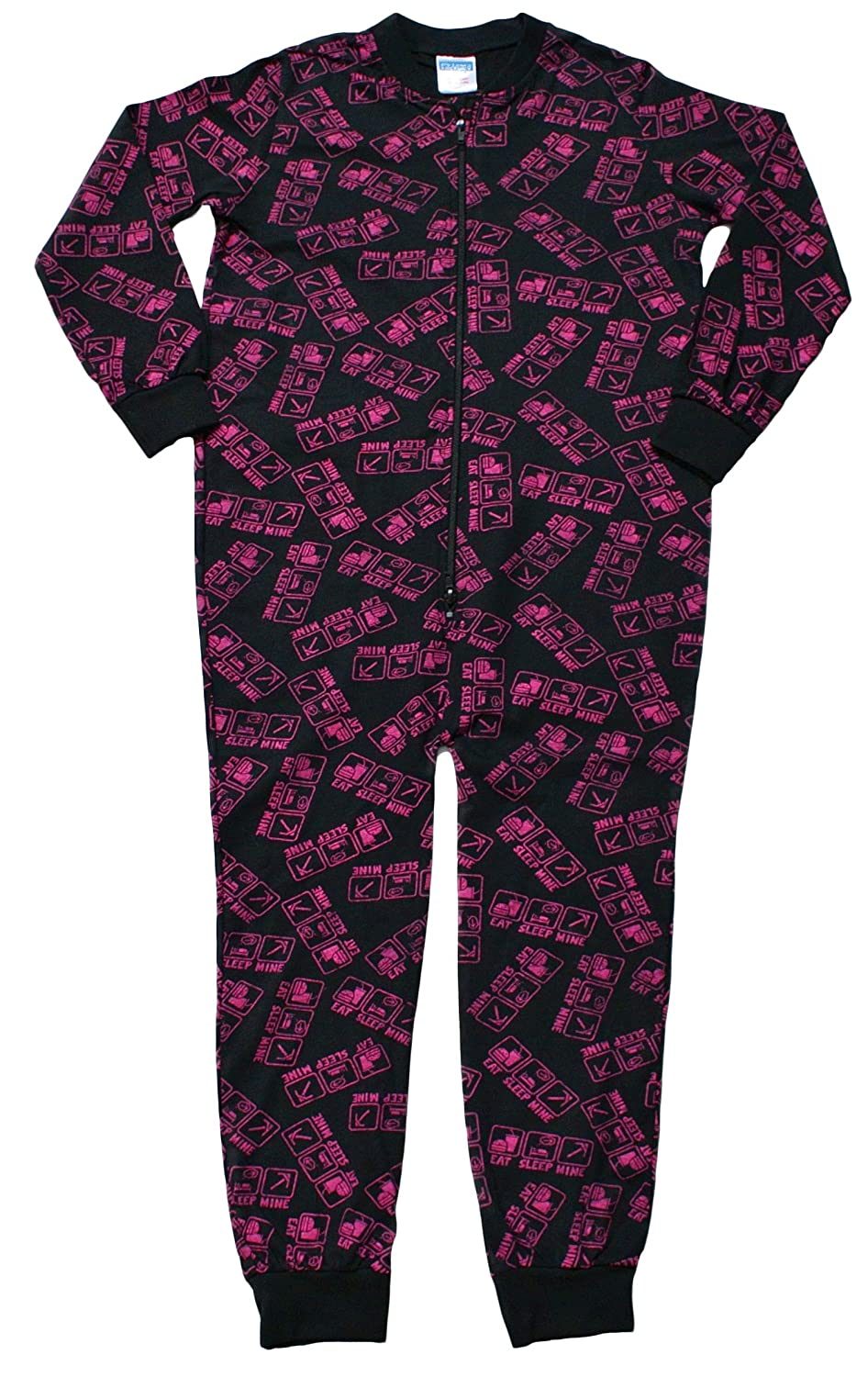 Girls Eat Sleep Mine Onesie 7 to 12 Years Fantastic Computer Game Style Pink