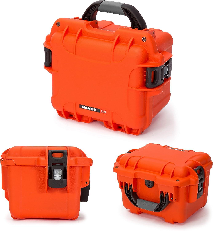 Nanuk 908 Waterproof Hard Case with Padded Divider Yellow