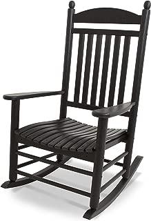 product image for POLYWOOD J147BL Jefferson Rocking Chair Rocker, Black