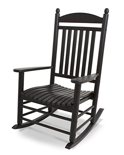Miraculous Polywood J147Bl Jefferson Rocking Chair Rocker Black Ocoug Best Dining Table And Chair Ideas Images Ocougorg