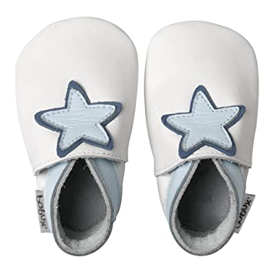 Bobux Nursery Soft Soles White Baby Star S -Kids