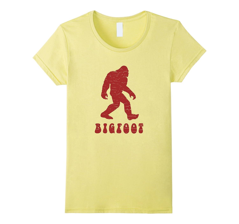 Distressed Retro 1970's Style Bigfoot Silhouette T-Shirt