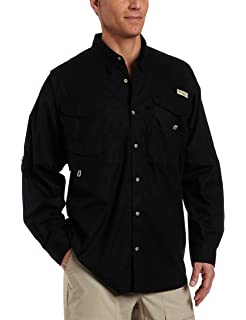 0870a4d23e43d8 Columbia Men's PFG Bonehead II Long Sleeve Shirt, Cotton, Relaxed Fit