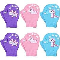 Cooraby 6 pares de manoplas elásticas de invierno unisex para bebé