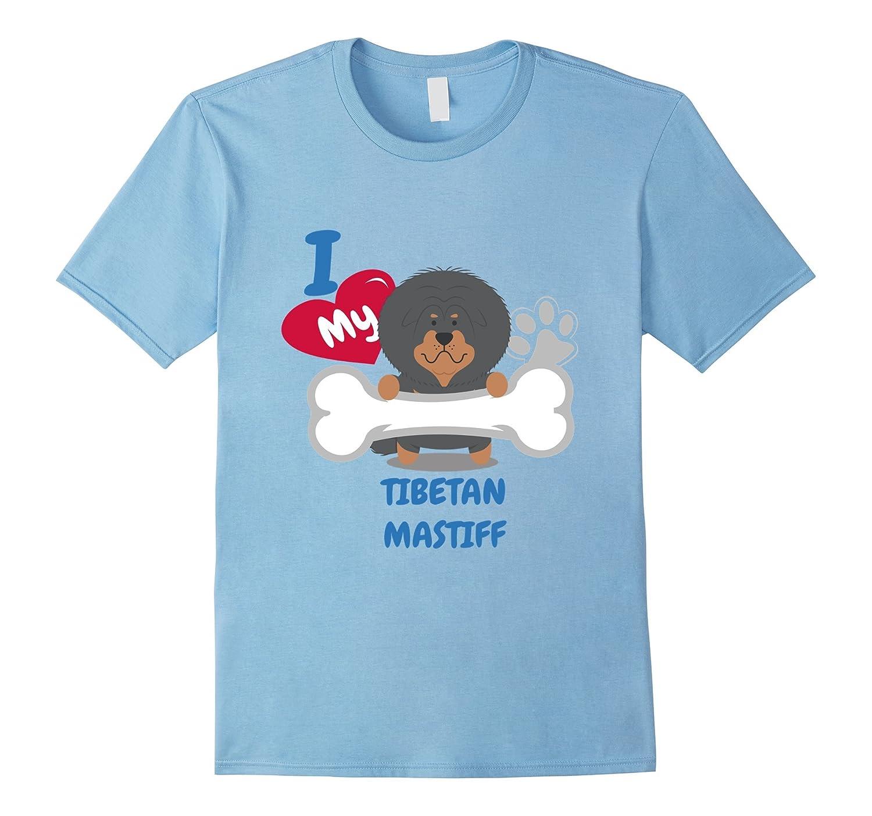 Tibetan Mastiff T-Shirt - I Love My Tibetan Mastiff-TH