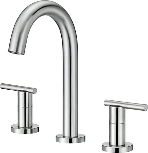Danze D304558BN Parma Two Handle Trim Line Widespread Lavatory Faucet, Brushed Nickel
