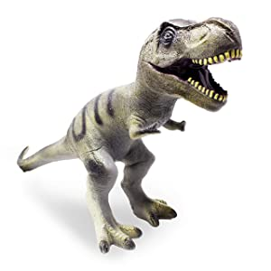 "Boley Jumbo Monster 22"" Soft Jurassic T-Rex Toy - Big Educational Dinosaur Action Figure, Designed for Rough Play - Great Sandbox Toy, Beach Toy, Dinosaur Party Toy, and Toddler Dinosaur Gift"