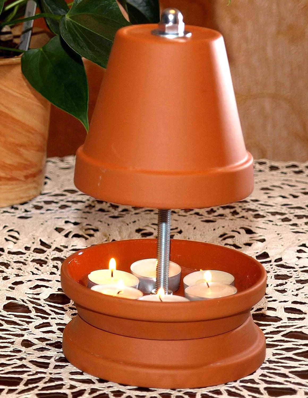 Estufa de velas de té, para hasta 6 velas de té, se puede pintar, chimenea de mesa, conocida por SternTV, aroma, para velas, calefacción, salón, ...