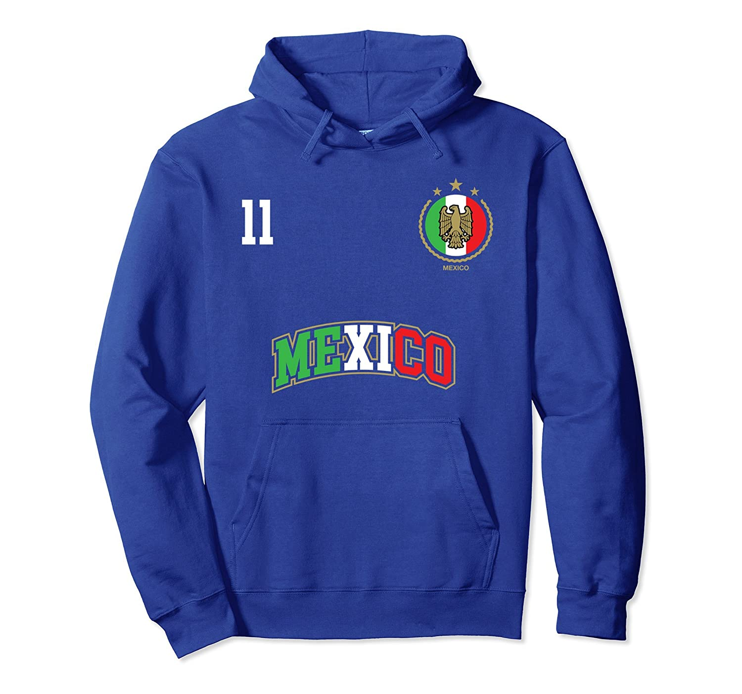 Mexico Soccer Team Hoodie Number 11 Sport Mexican Flag Shirt-alottee gift