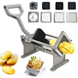 ZenChef Stainless SteelCommercial Grade French Fry Potato Cutter Fruit Vegetable Slicer Chopper w/4 Blades
