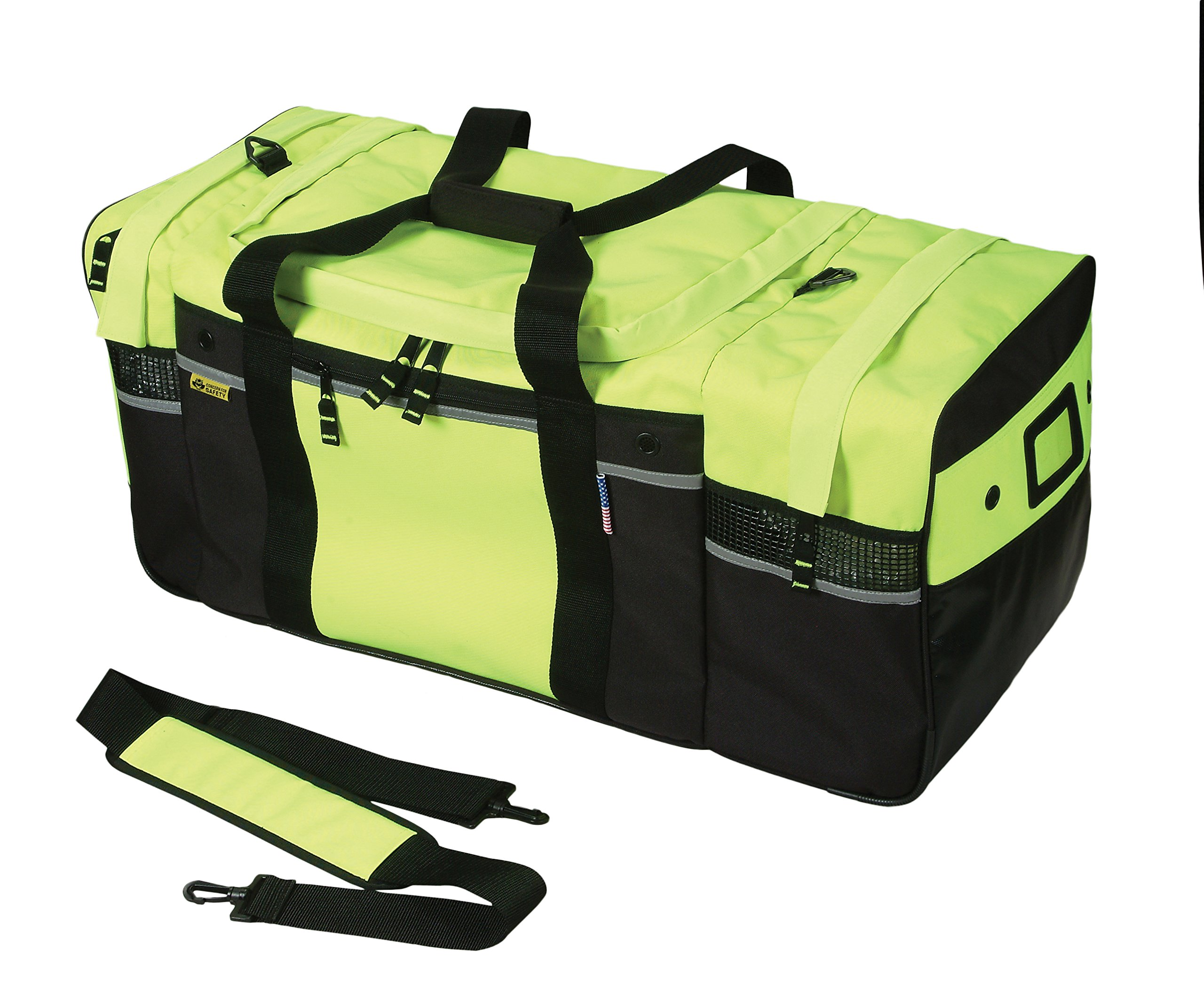 Safety Depot Turnout Gear Bag High Visibility with Removable Strap