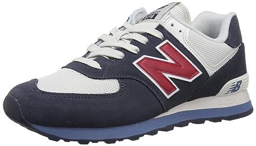 New Balance ML574ESC, Zapatillas para Hombre, Azul (Navy/Chilli Pepper Esc), 39.5 EU: Amazon.es: Zapatos y complementos