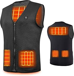 Veczom Heated Vest Heating Jacket for Men Women USB Charging Outdoor Hunting