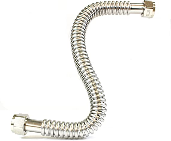 """Details about  /20T3063060-0016-4 Stainless Steel Flexible Metal Hose 1-1//4/"""" Dia USIP"""