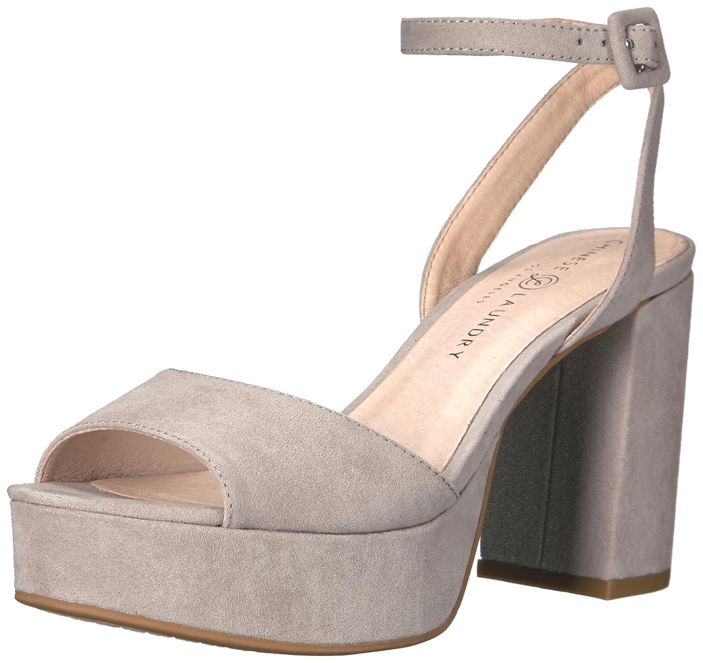 Chinese Laundry Women's Theresa Heeled Sandal B01LX46M8E 6 B(M) US|Smoke Grey Suede