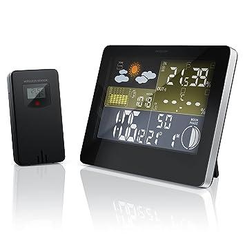 Bearware - Estación meteorológica inalámbrica con pantalla a color | incl. sensor externo | Señal